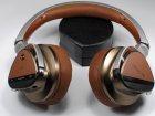 Creative aurvana platinum genuine leather custom handcrafted headband plus earpads cushions matte foxy with memory foam