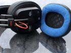 Fostex T50RP MK3 custom handcrafted genuine leather plus blue alcantara earpads cushions with merory foam